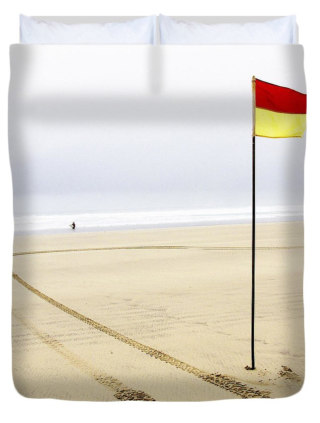 Surfer Duvet Cover featuring the photograph Call Of The Sea by Rachel Down