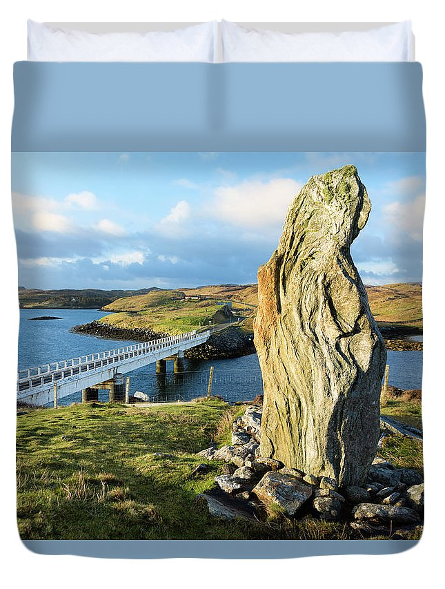 Prehistoric Era Duvet Cover featuring the photograph Callanish Viii Standing Stone, Isle Of by Theasis