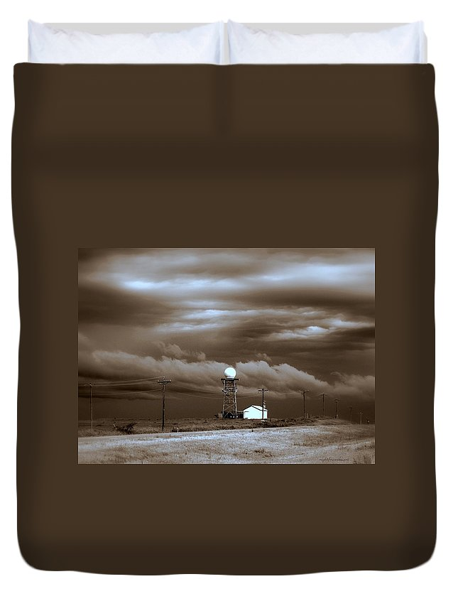 Photo Taken Near Newcastle Oklahoma Duvet Cover featuring the photograph Calm Before The Storm by Bob and Kathy Frank