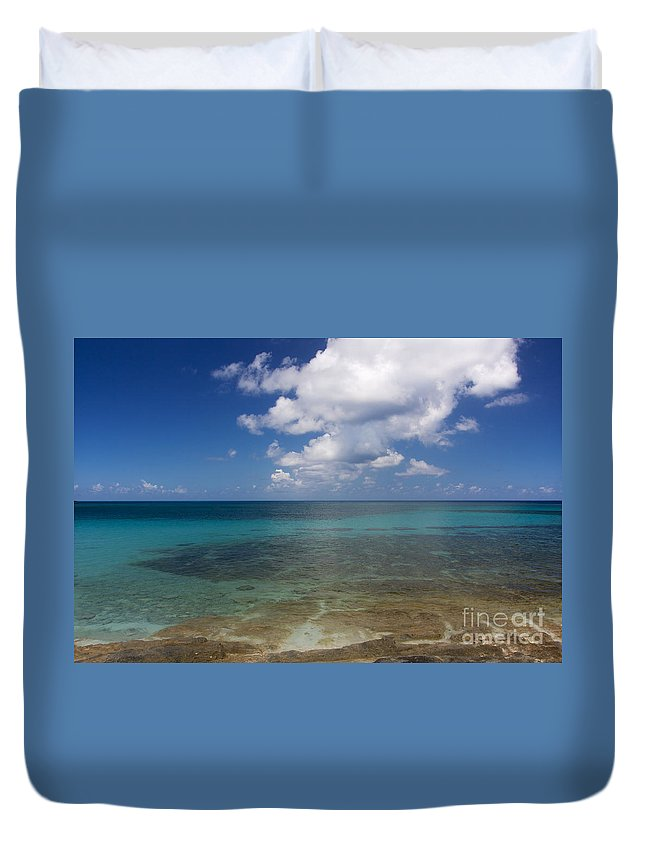 Bahamas Duvet Cover featuring the photograph Calm Caribbean Ocean by Jannis Werner
