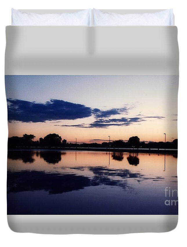Boston Duvet Cover featuring the photograph Cambridge Skyline by Kenny Glotfelty