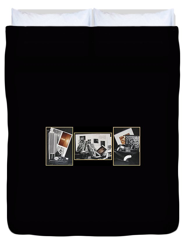 Camera Duvet Cover featuring the photograph Camera Timeline Of A Photographer by Peter Piatt