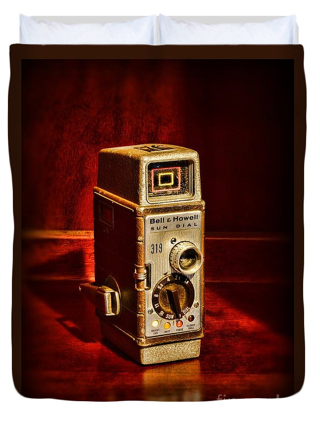 Paul Ward Duvet Cover featuring the photograph Camera - Vintage Bell And Howell Sun Dial 319 by Paul Ward
