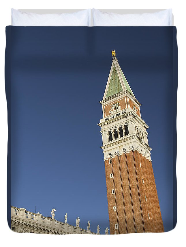 Venice Duvet Cover featuring the photograph Campanile In Venice by Jaroslav Frank