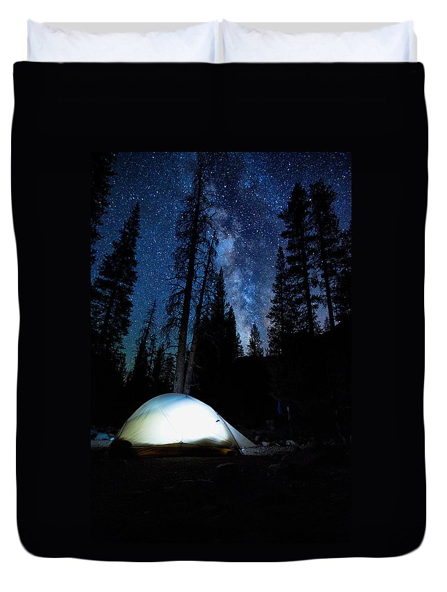 John Muir Trail Duvet Cover featuring the photograph Camping Under The Stars by Shauna Milton