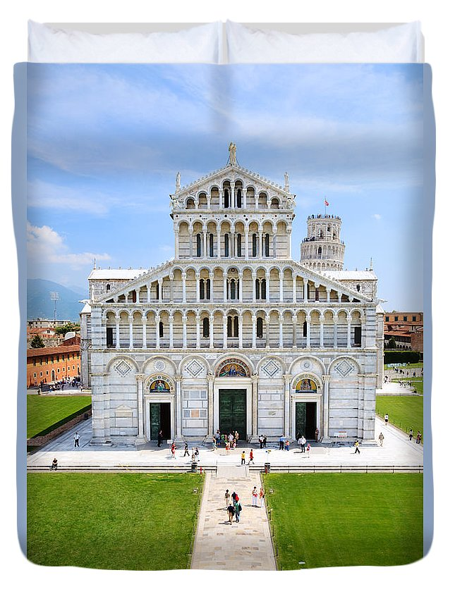 Day Duvet Cover featuring the photograph Campo Dei Miracoli - Pisa by Matteo Colombo
