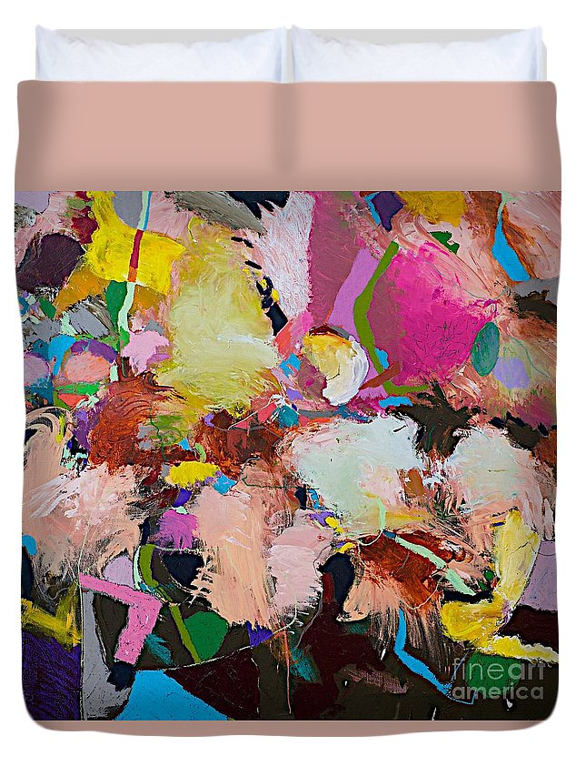 Landscape Duvet Cover featuring the painting Can Can by Allan P Friedlander