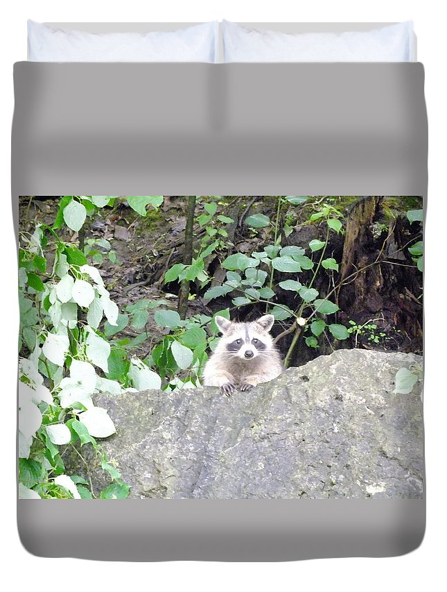 Nature Duvet Cover featuring the photograph Can We Talk by Peggy King