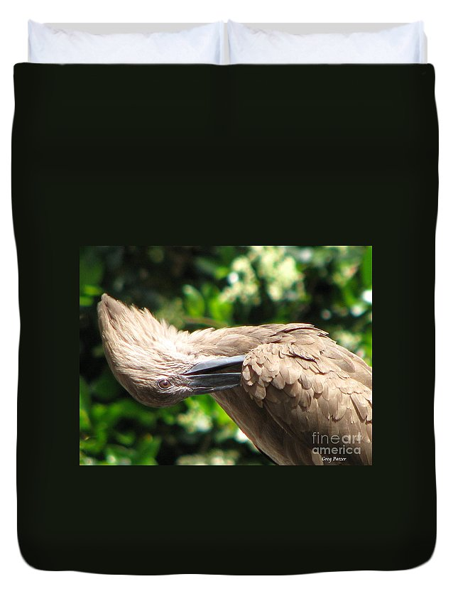 Patzer Duvet Cover featuring the photograph Can You Do This by Greg Patzer