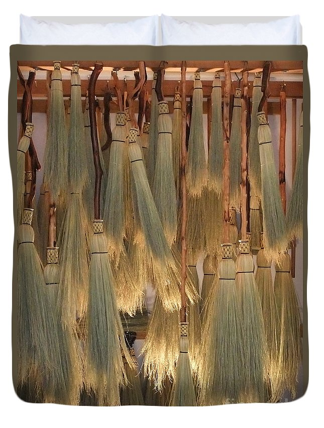 Canada Duvet Cover featuring the photograph Canada Vancouver Brooms by Coventry Wildeheart