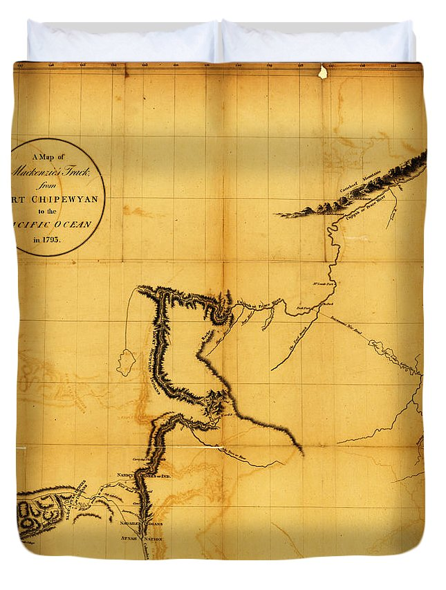 Canada Western 1801 Duvet Cover featuring the painting Canada Western 1801 by MotionAge Designs