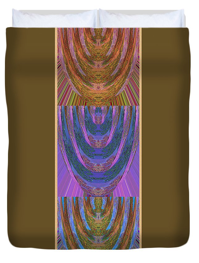Candle Holder Duvet Cover featuring the mixed media Candle Stick Art Magic Graphic Patterns Navinjoshi Signature Style Art   by Navin Joshi
