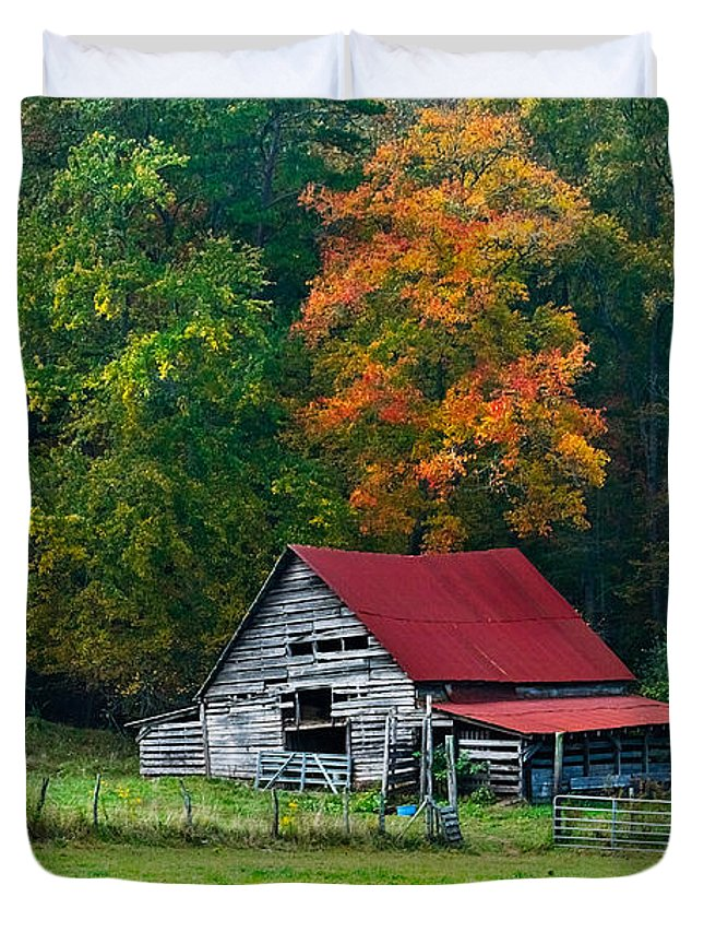Appalachia Duvet Cover featuring the photograph Candy Mountain by Debra and Dave Vanderlaan
