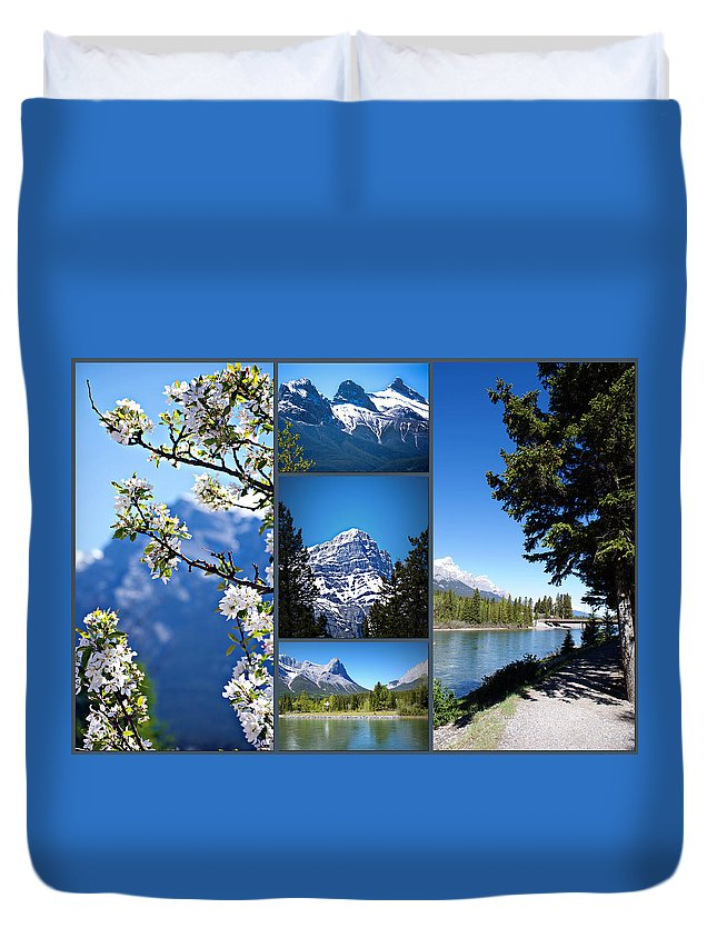 Canmore Duvet Cover featuring the photograph Canmore Alberta by Lisa Knechtel