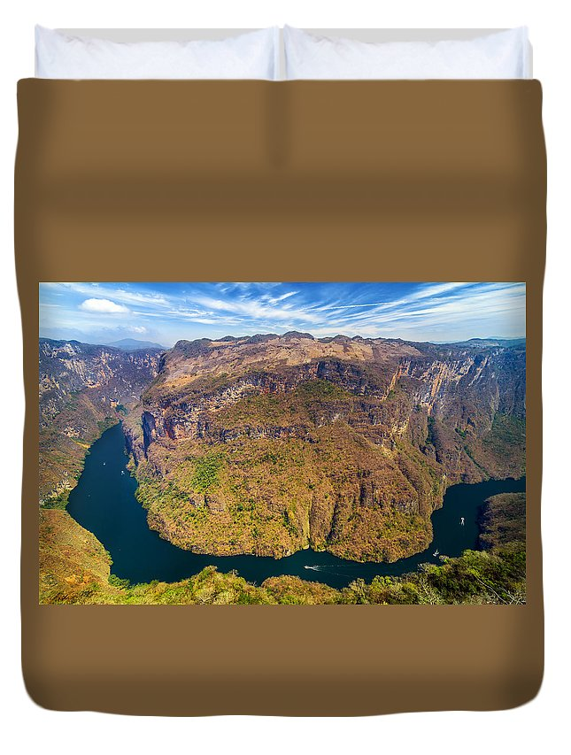 Canyon Duvet Cover featuring the photograph Canyon Bend by Jess Kraft