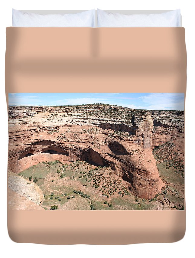 Canyon Duvet Cover featuring the photograph Canyon De Chelly I by Christiane Schulze Art And Photography
