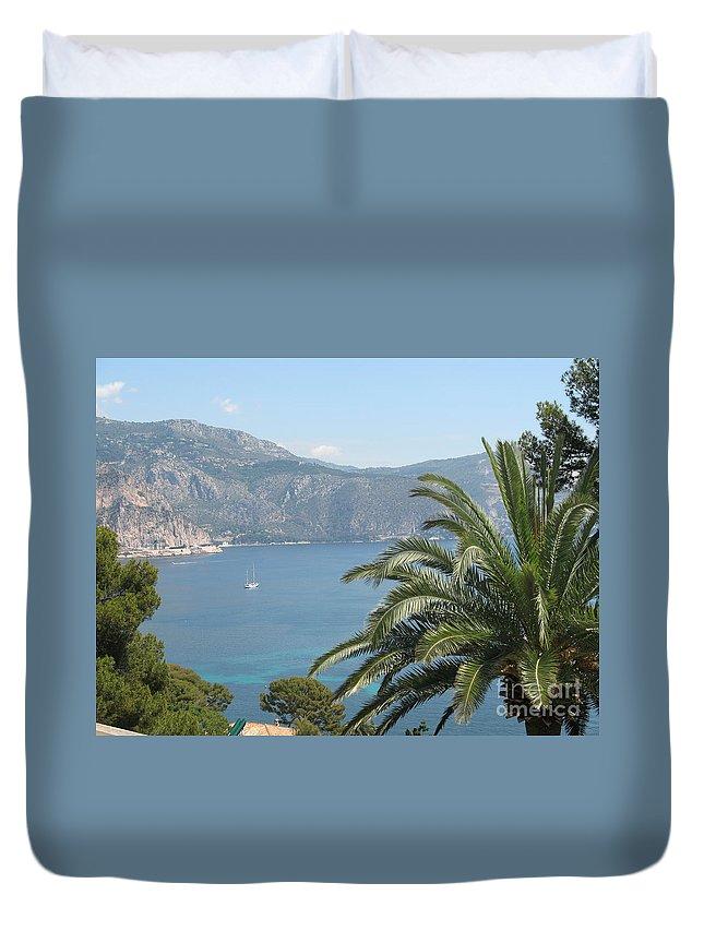 Mediterranean Sea Duvet Cover featuring the photograph Cap Ferrat by Christiane Schulze Art And Photography