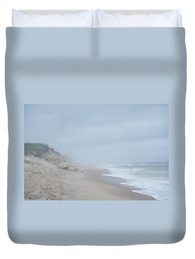 Beach Duvet Cover featuring the photograph Cape Cod Coast by Zina Zinchik
