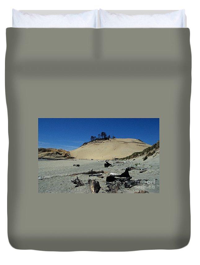 Beach Duvet Cover featuring the photograph Cape Kiwanda Sand Dune by Sharon Elliott