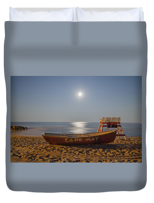 Cape Duvet Cover featuring the photograph Cape May By Moonlight by Bill Cannon