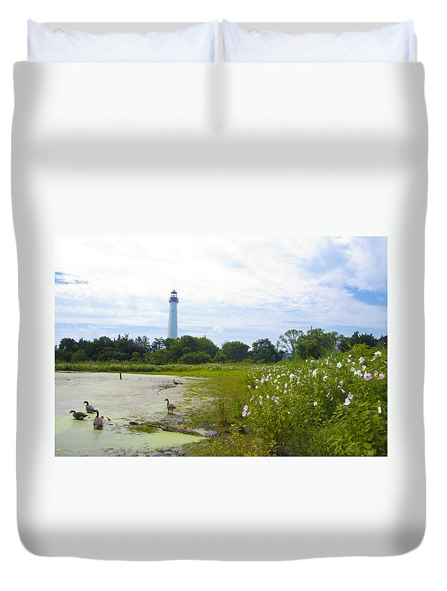 Cape Duvet Cover featuring the photograph Cape May Lighthouse - New Jersey by Bill Cannon
