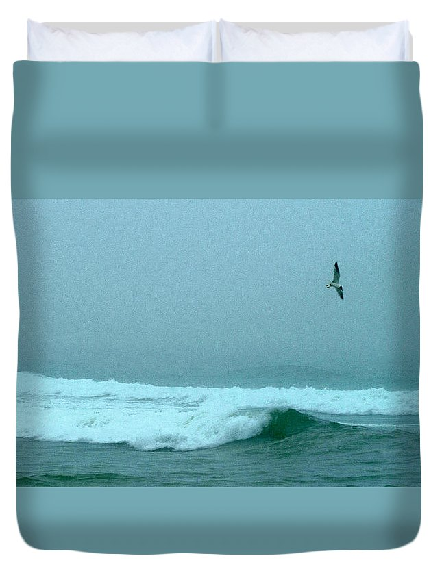 Cape Duvet Cover featuring the photograph Cape Mist by Robert DeFosses