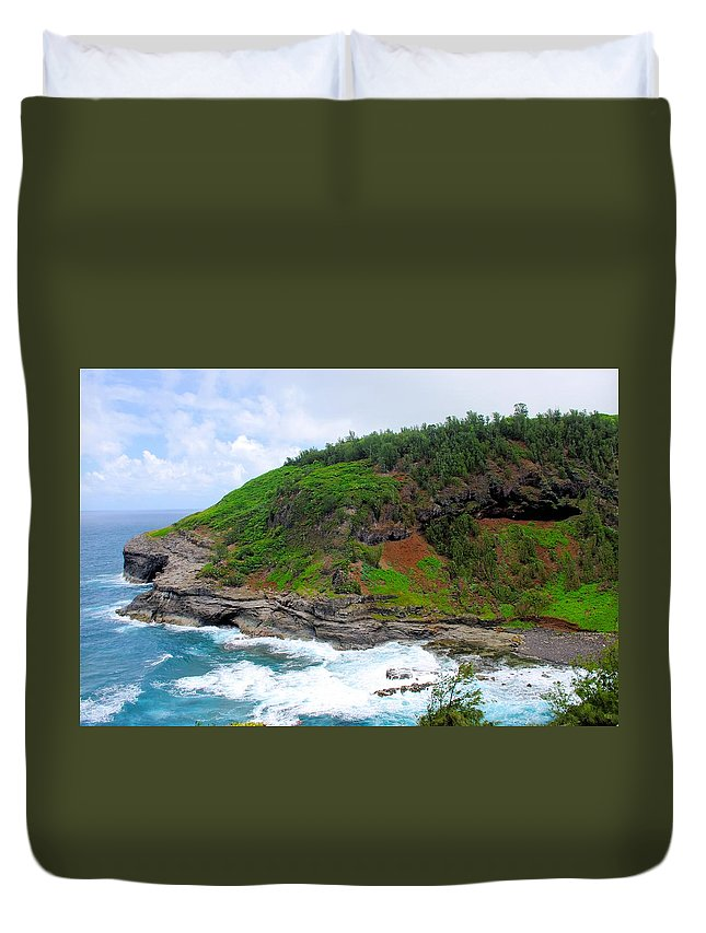 Cape Of Makapili Duvet Cover featuring the photograph Cape Of Makapili by John Greaves
