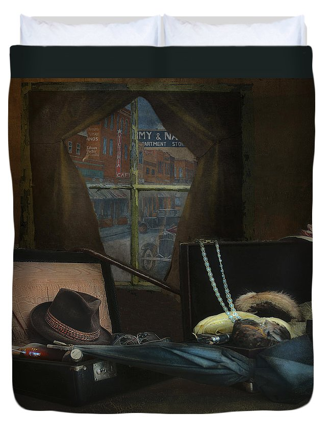 Al Capone Duvet Cover featuring the photograph Capone - Revised by Jeff Burgess