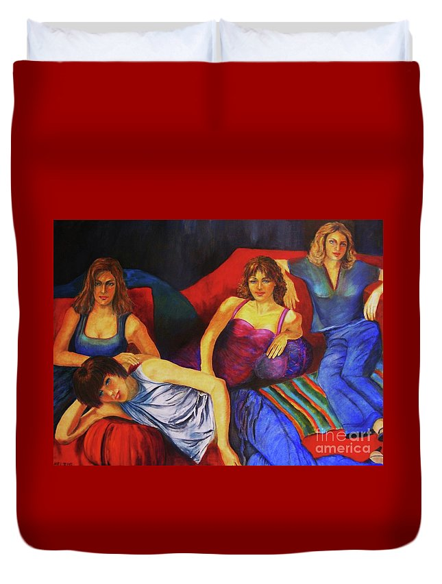 Capricious-luck-painting Duvet Cover featuring the painting Capricious Luck by Dagmar Helbig