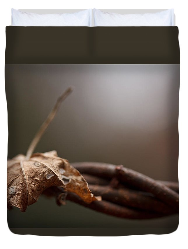 Leaf Duvet Cover featuring the photograph Captured by Shane Holsclaw