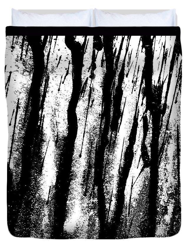 Rain Duvet Cover featuring the photograph Car Door B by J Love