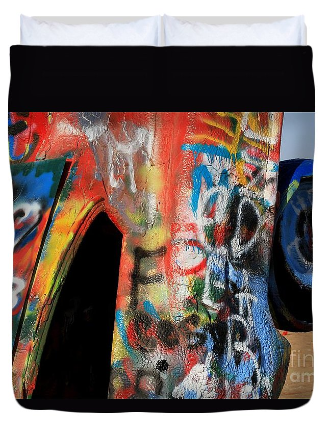 Thegypsylens Duvet Cover featuring the photograph Car Of Many Colors by Ashley M Conger