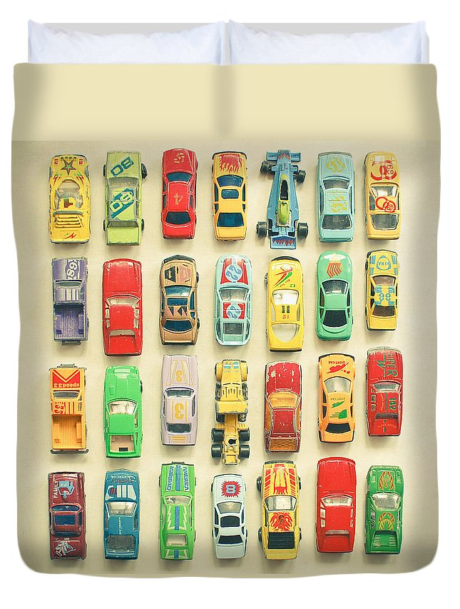 Car Photograph Duvet Cover featuring the photograph Car Park by Cassia Beck