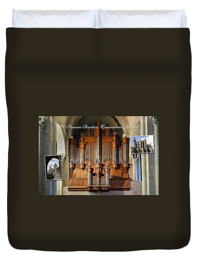 Montage Duvet Cover featuring the photograph Carcassonne Montage by Jenny Setchell