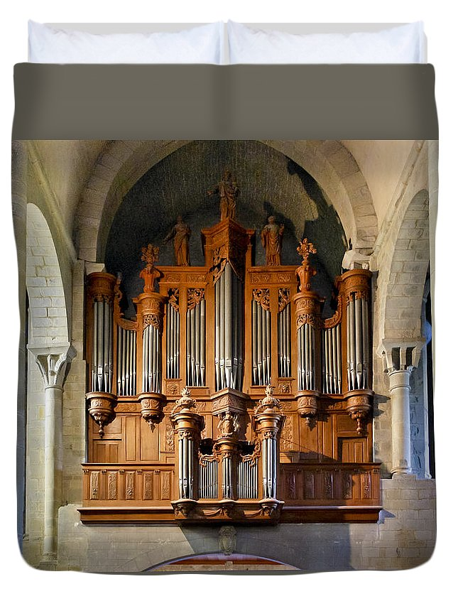 Carcassonne Duvet Cover featuring the photograph Carcassonne Organ by Jenny Setchell