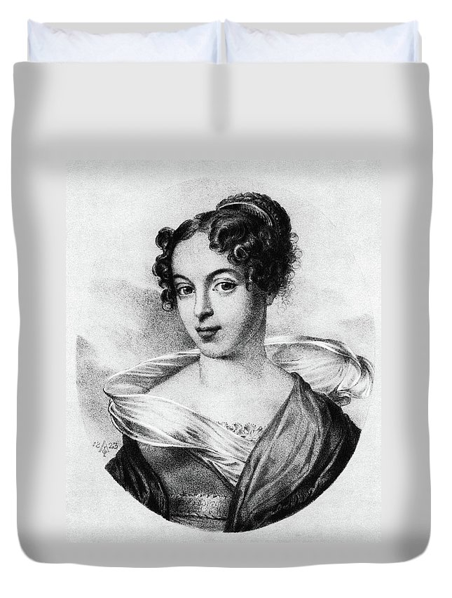 1823 Duvet Cover featuring the painting Caroline Unger-sabatier (1803-1877) by Granger