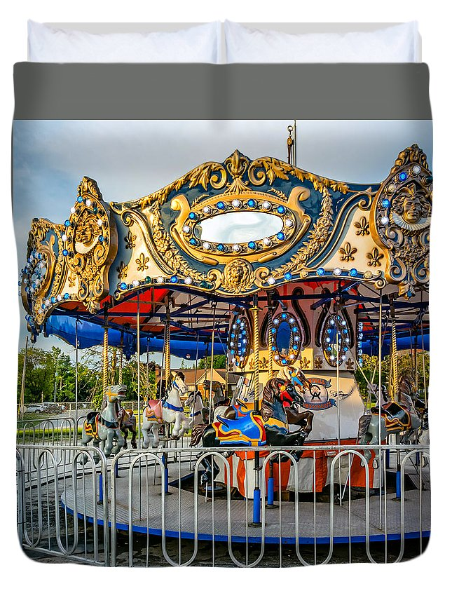 Steve Harrington Duvet Cover featuring the photograph Carousel 3 by Steve Harrington