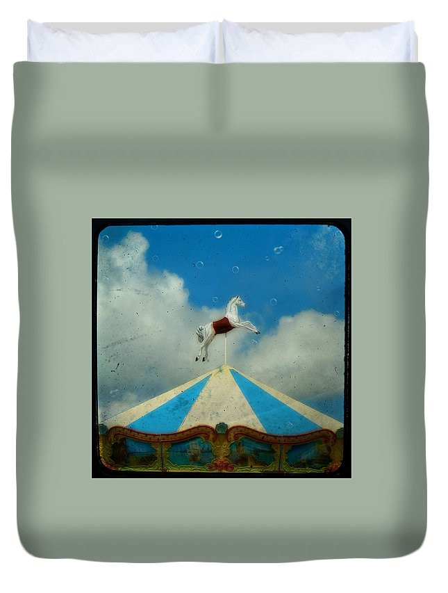 Carnival Duvet Cover featuring the photograph Carousel Day by Gothicrow Images