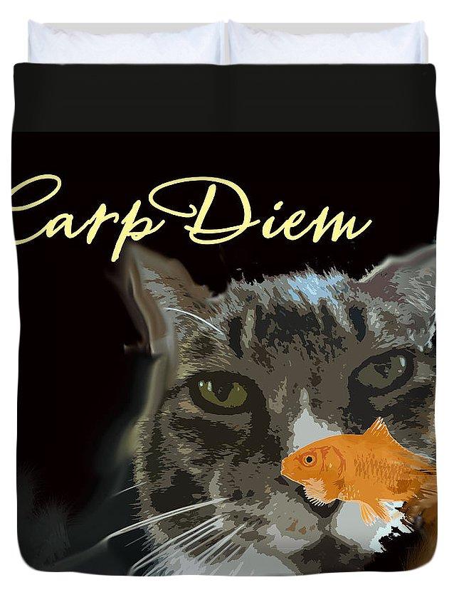 Carp Diem Duvet Cover featuring the photograph Carp Diem by Jacqueline DiAnne Wasson