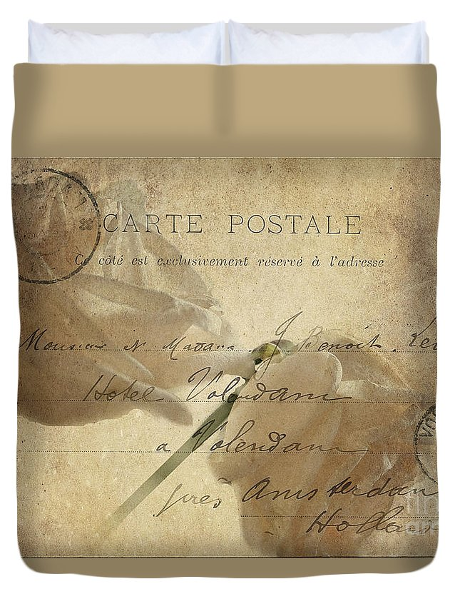 Postcard Duvet Cover featuring the photograph Carte Postale by Betty LaRue