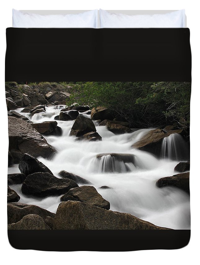 Cascade Duvet Cover featuring the photograph Cascade Falls by Chance Chenoweth