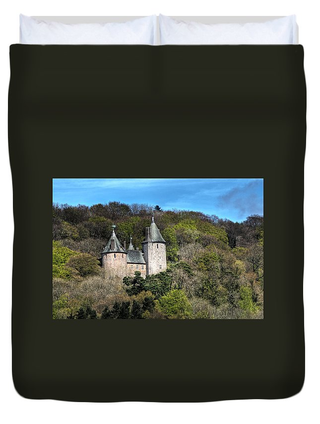 Castell Coch Duvet Cover featuring the photograph Castell Coch Cardiff by Steve Purnell