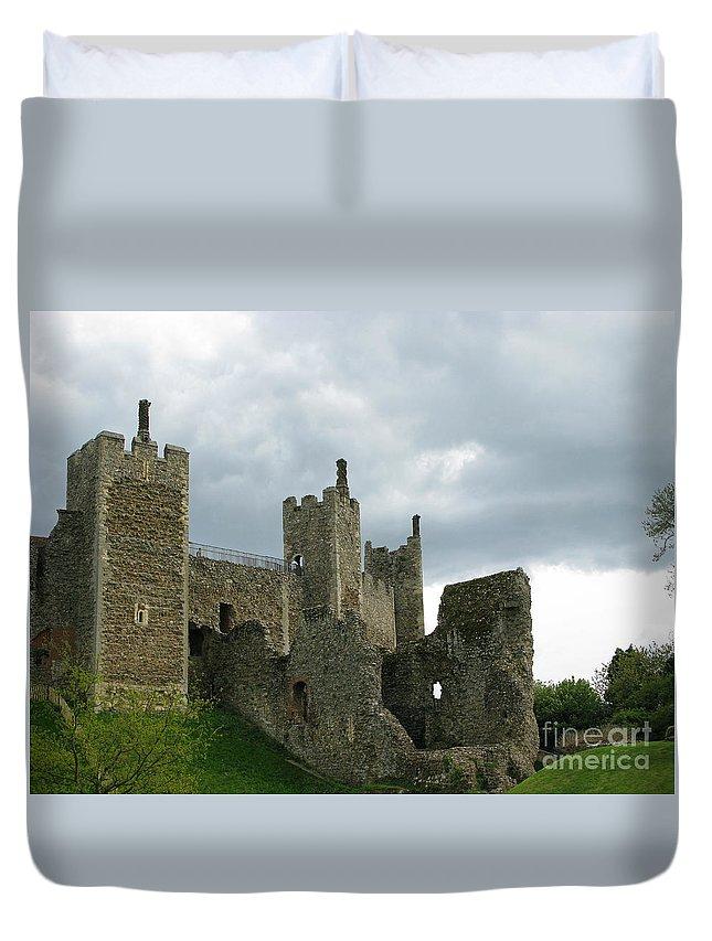 Castle Duvet Cover featuring the photograph Castle Curtain Wall by Ann Horn
