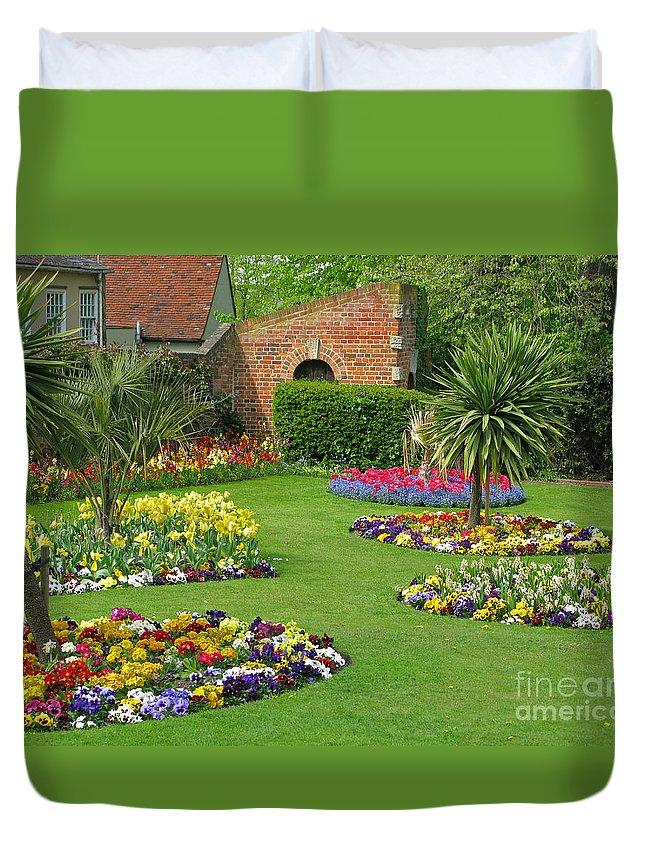 Garden Duvet Cover featuring the photograph Castle Park Gardens by Ann Horn