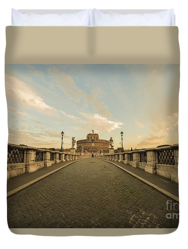 Castle Duvet Cover featuring the photograph Castle Sant'angelo by Mats Silvan