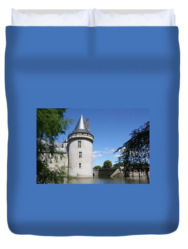 Castle Duvet Cover featuring the photograph Castle Sully Sur Loire - France by Christiane Schulze Art And Photography