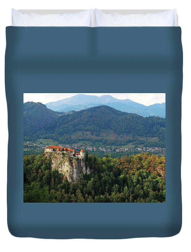 Castle Duvet Cover featuring the photograph Castle View by Douglas J Fisher