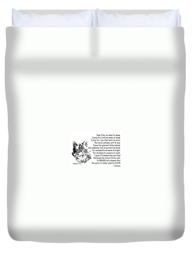 Now I Lay Me Down To Sleep Duvet Cover featuring the photograph Cat Now I Lay Me Down To Sleep by Robyn Stacey