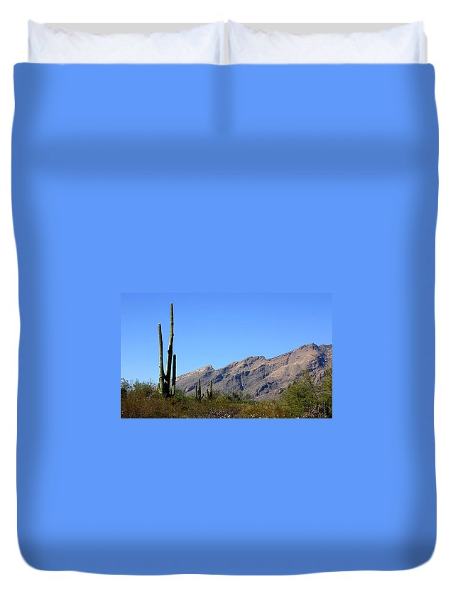 Mountain Duvet Cover featuring the photograph Catalinas by Joe Kozlowski
