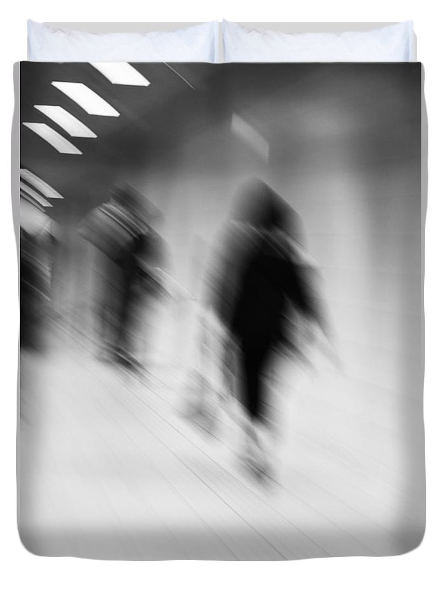 Train Duvet Cover featuring the photograph Catch The Train by The Artist Project